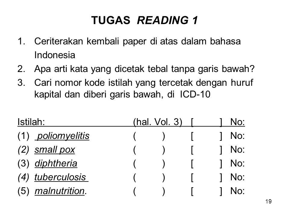 TUGAS READING 1 Ceriterakan kembali paper di atas dalam bahasa