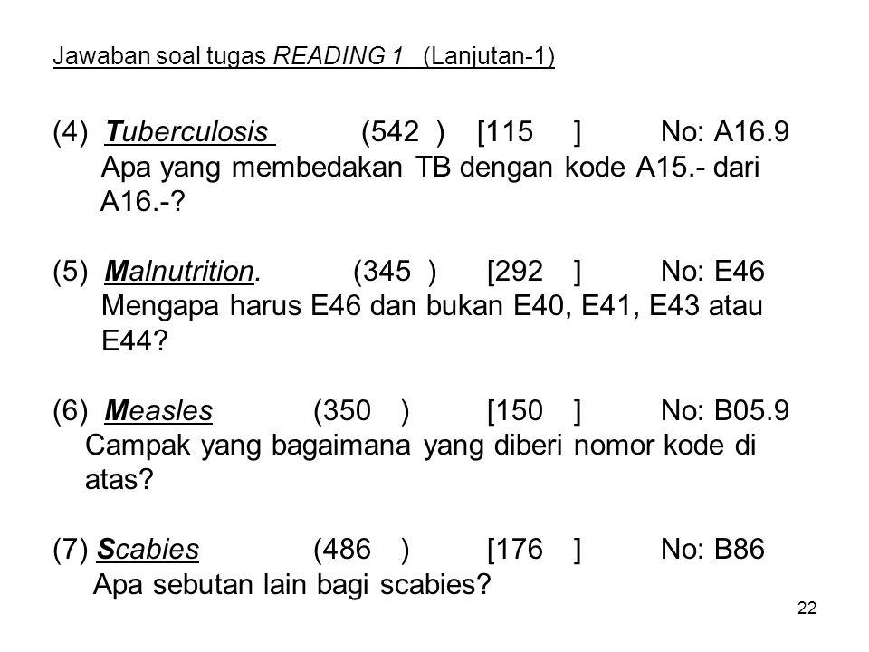 Jawaban soal tugas READING 1 (Lanjutan-1)