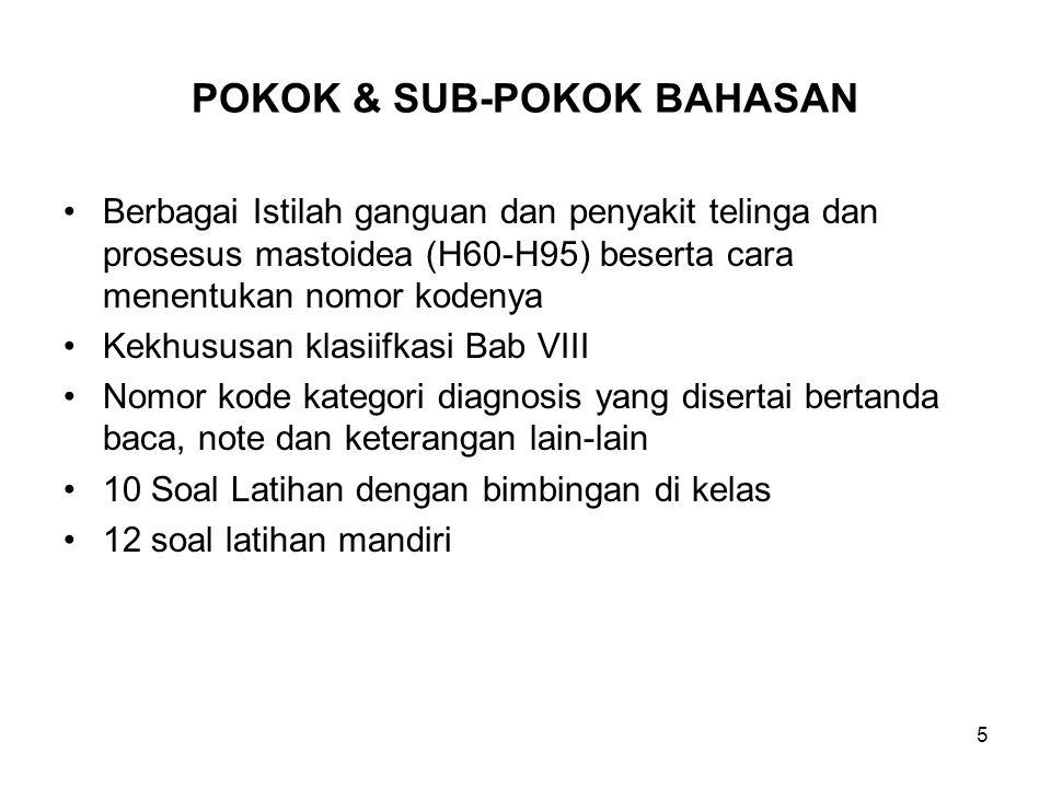 POKOK & SUB-POKOK BAHASAN