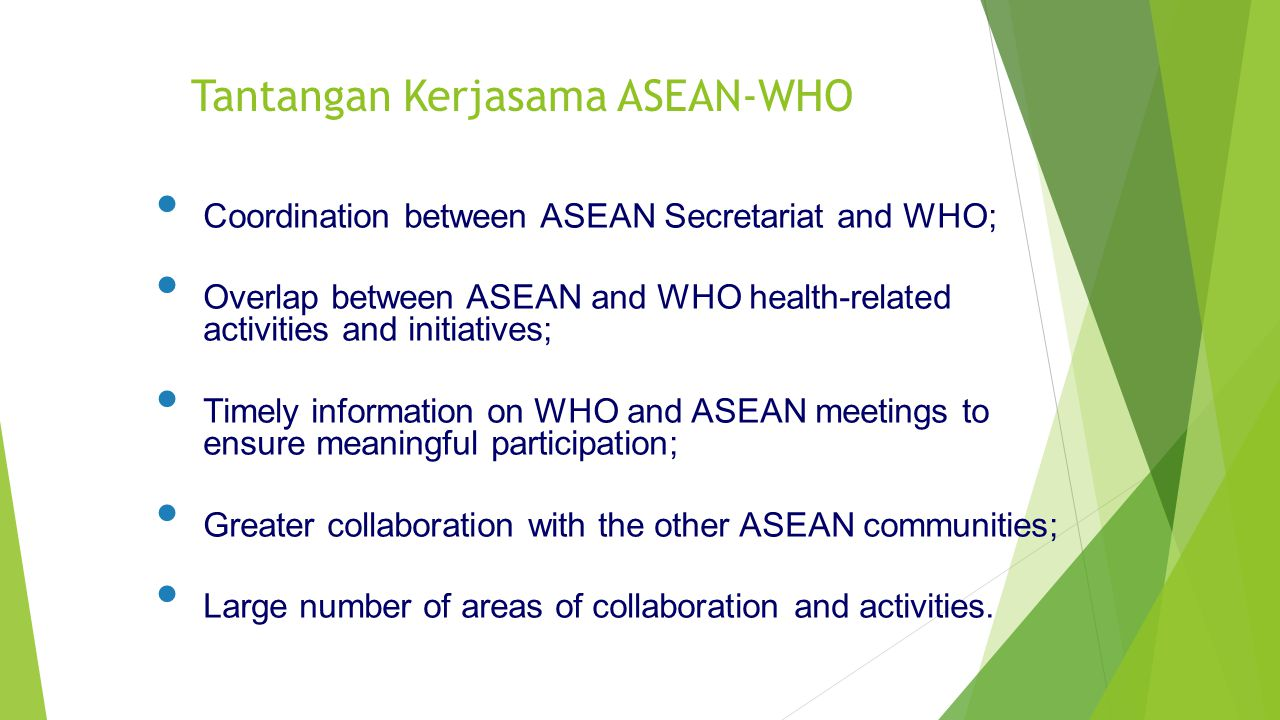 Tantangan Kerjasama ASEAN-WHO