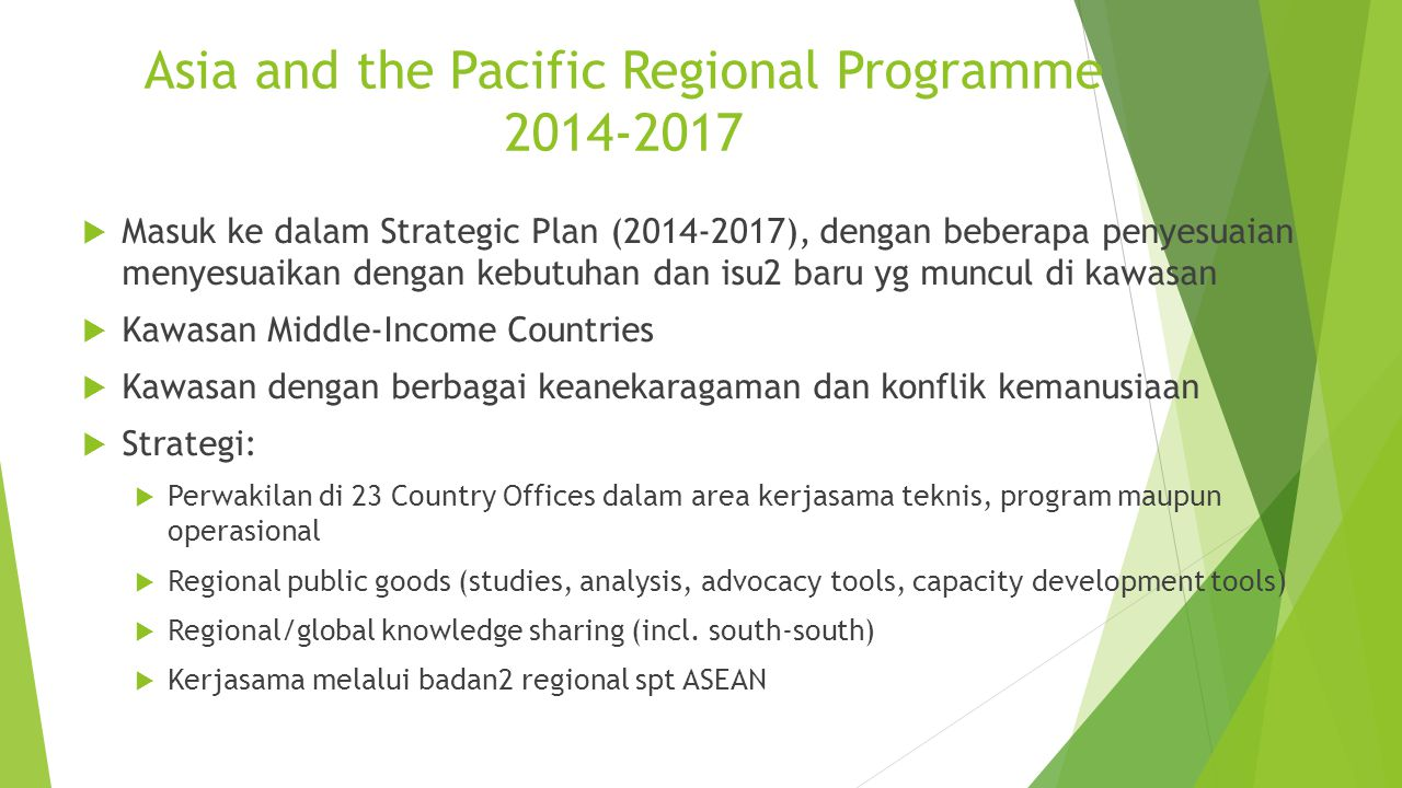 Asia and the Pacific Regional Programme 2014-2017