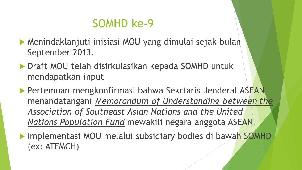 SOMHD ke-9 Menindaklanjuti inisiasi MOU yang dimulai sejak bulan September 2013.