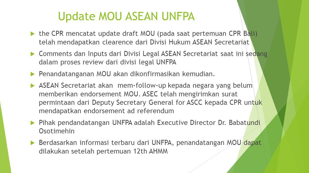Update MOU ASEAN UNFPA