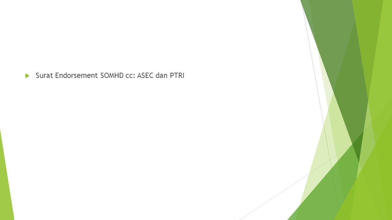 Surat Endorsement SOMHD cc: ASEC dan PTRI