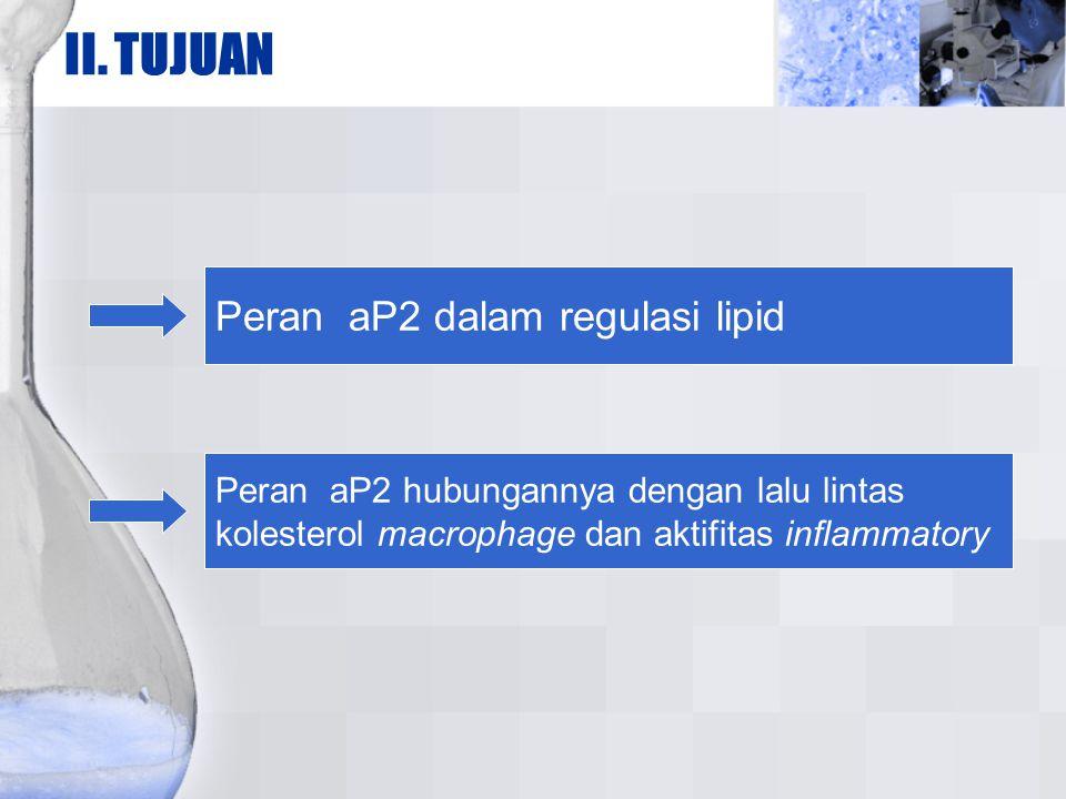 II. TUJUAN Peran aP2 dalam regulasi lipid