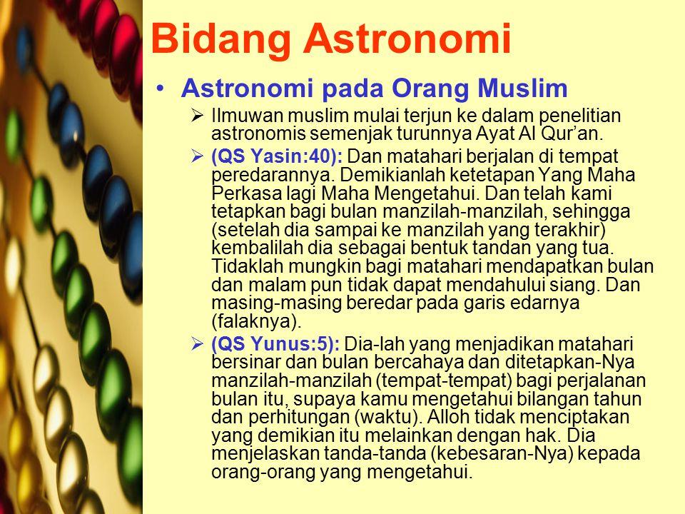 Bidang Astronomi Astronomi pada Orang Muslim