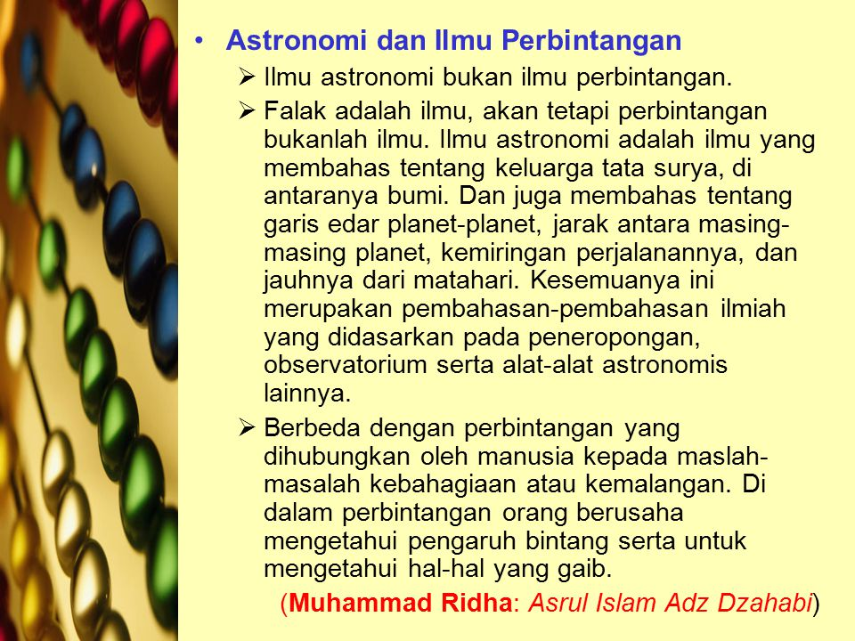 Astronomi dan Ilmu Perbintangan