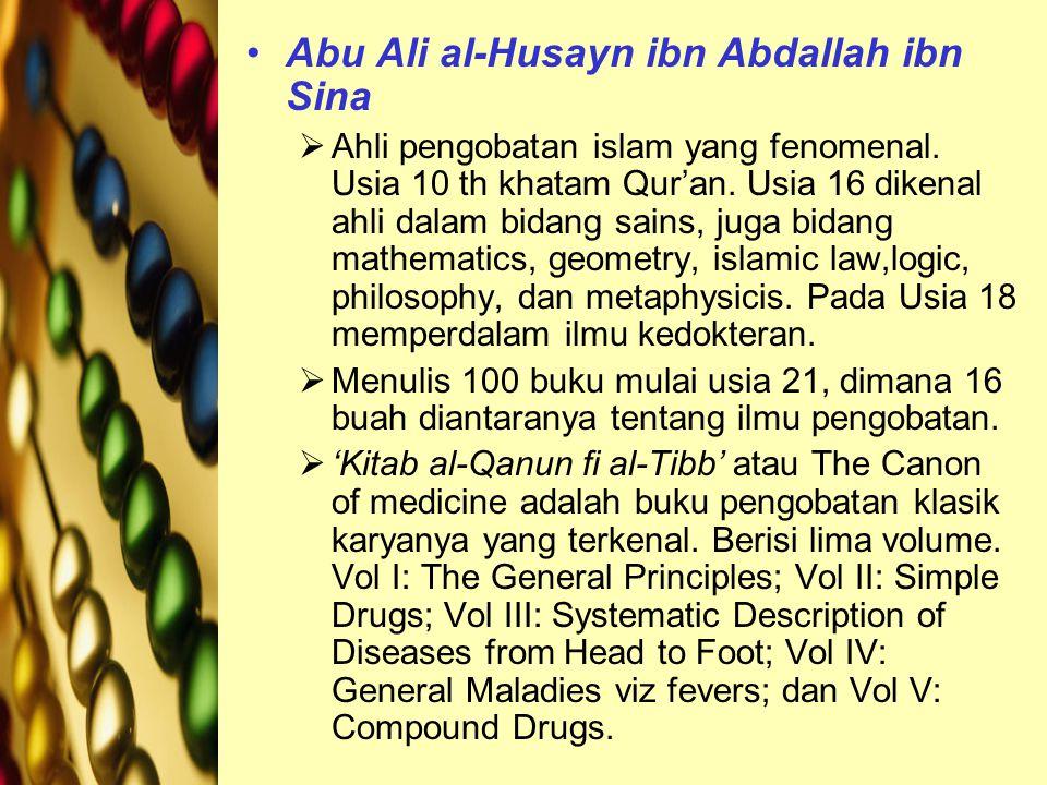 Abu Ali al-Husayn ibn Abdallah ibn Sina