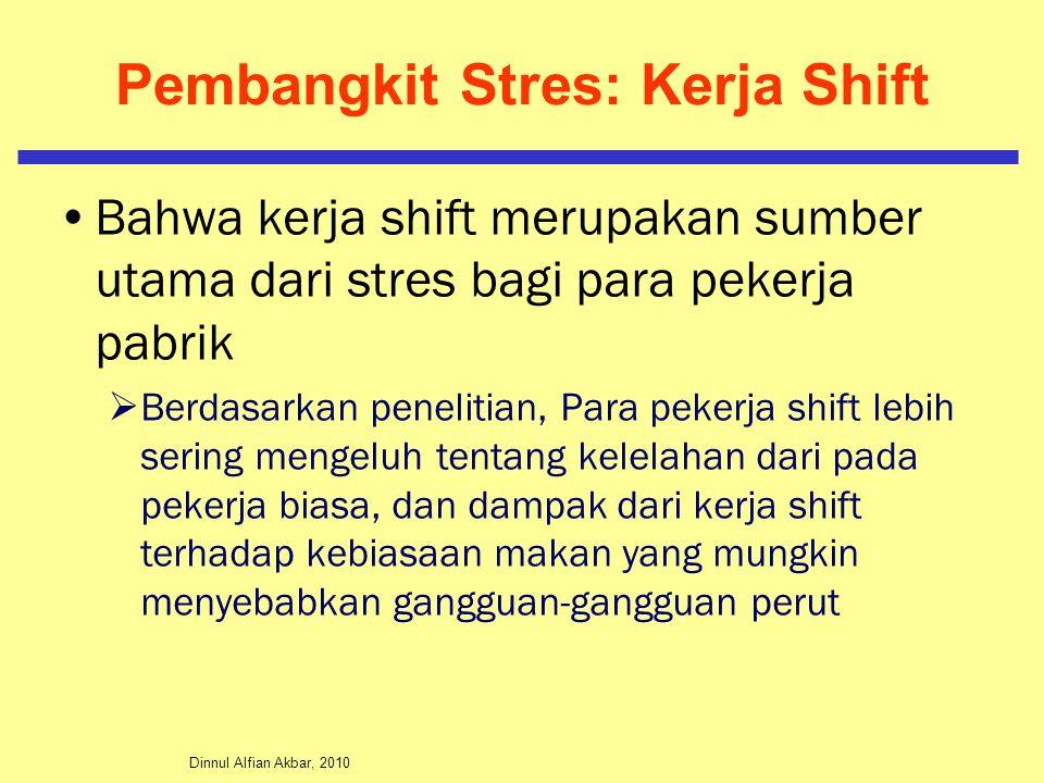 Pembangkit Stres: Kerja Shift
