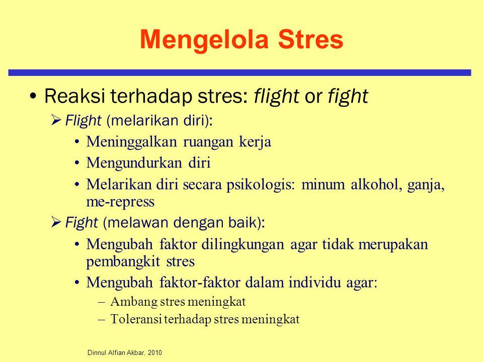 Mengelola Stres Reaksi terhadap stres: flight or fight