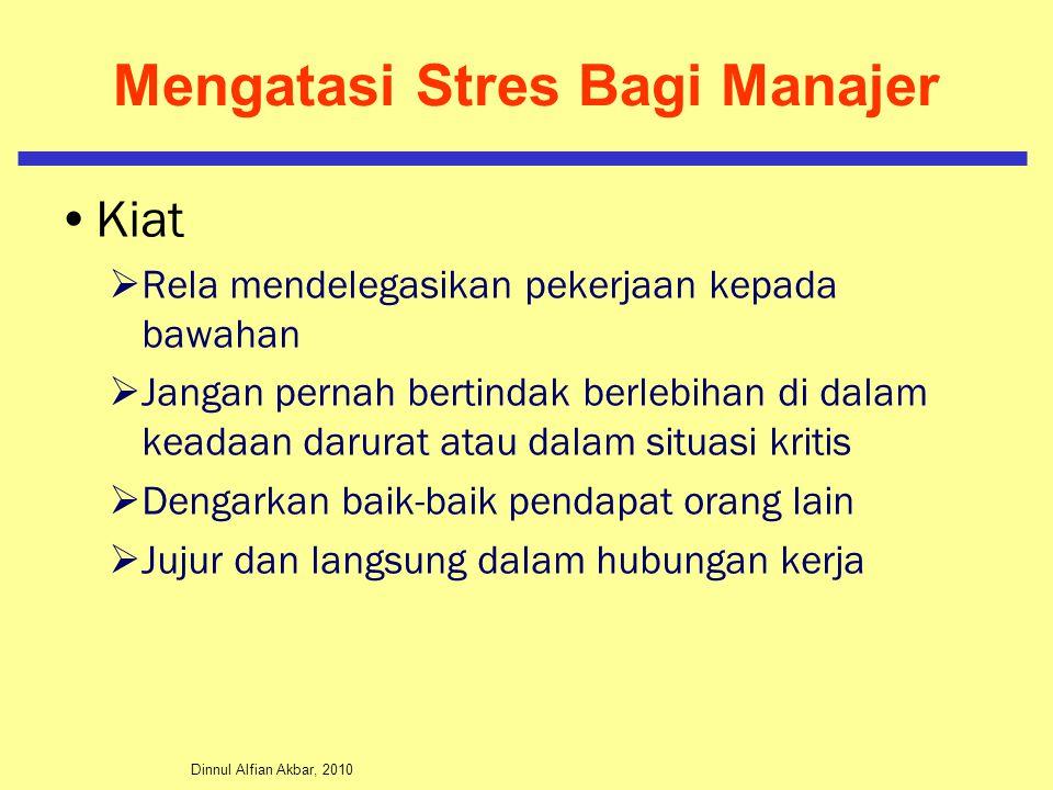 Mengatasi Stres Bagi Manajer