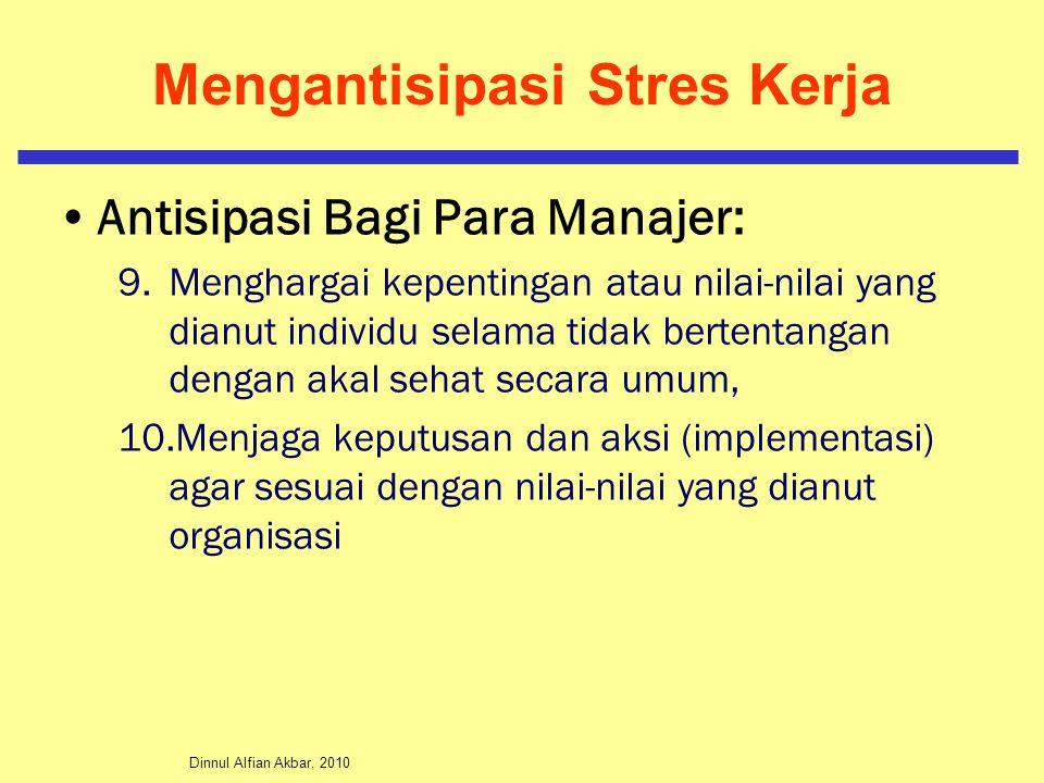 Mengantisipasi Stres Kerja