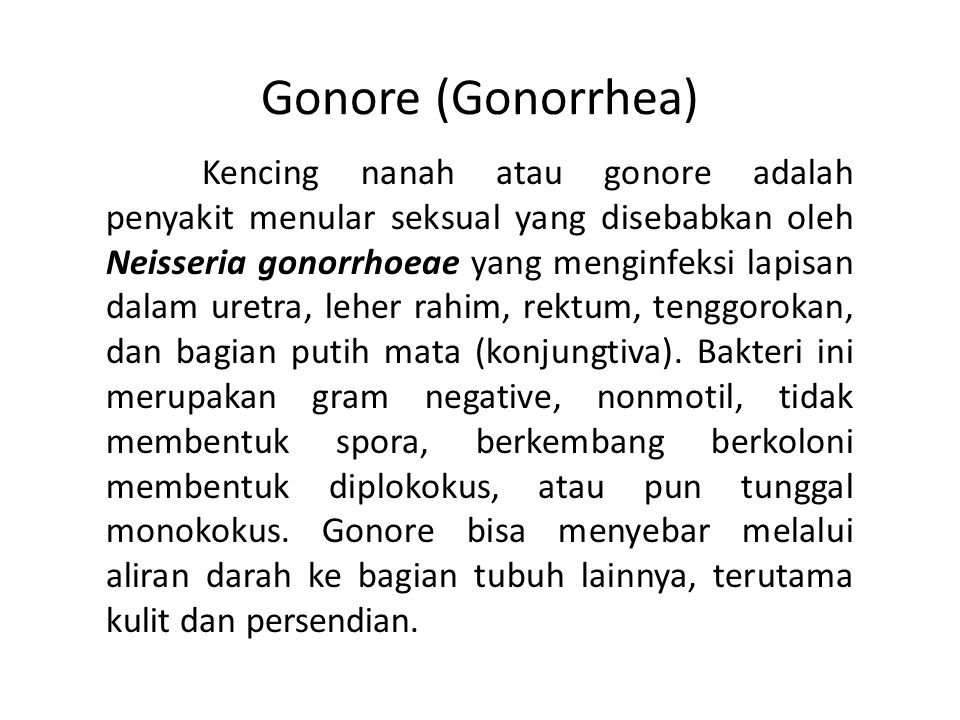 Gonore (Gonorrhea)