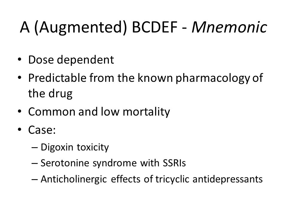 A (Augmented) BCDEF - Mnemonic