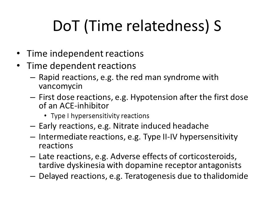 DoT (Time relatedness) S