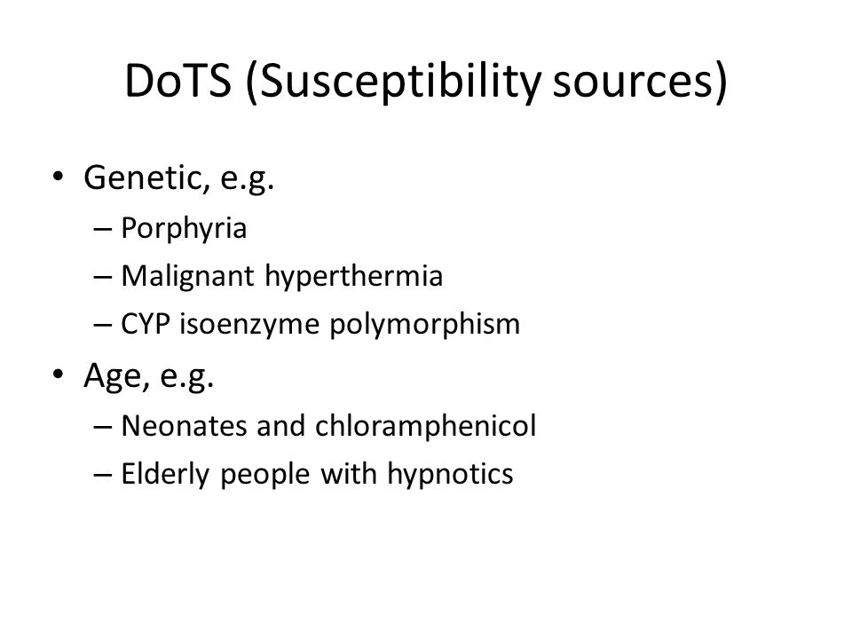 DoTS (Susceptibility sources)