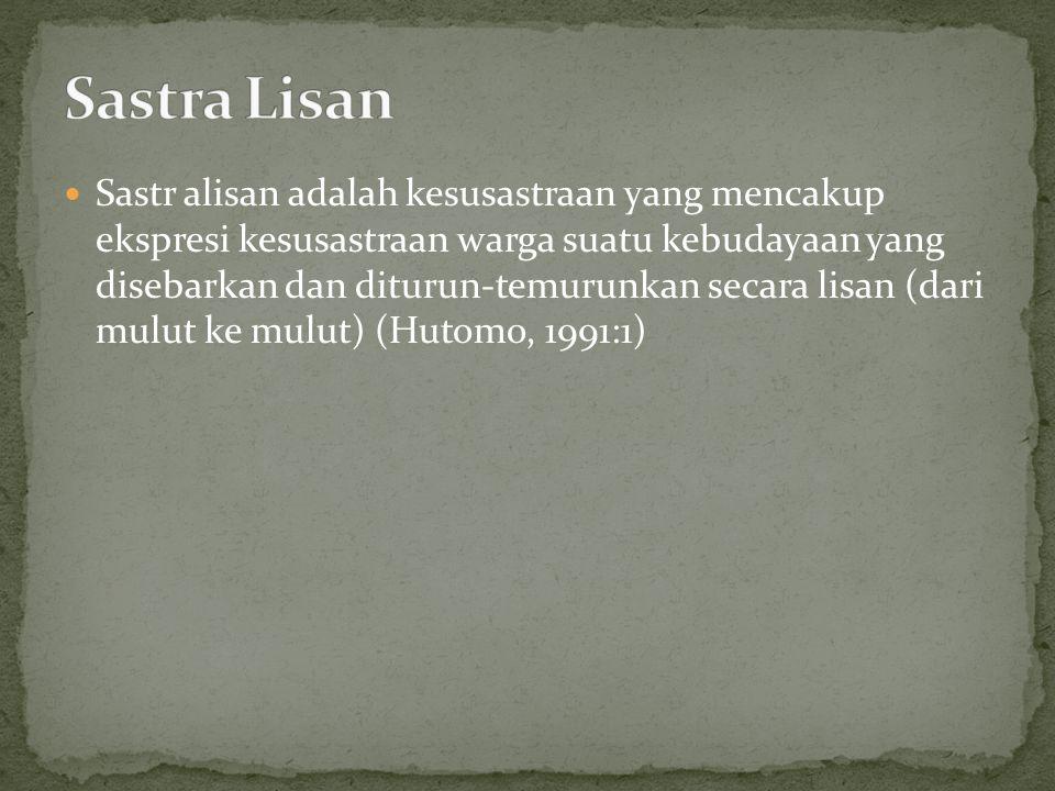 Sastra Lisan