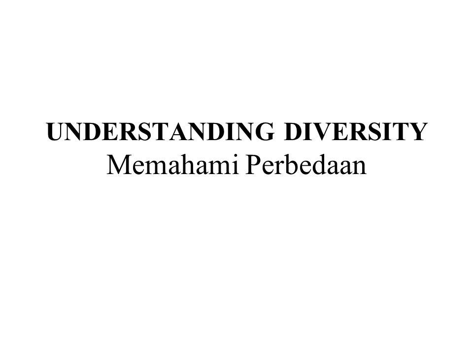 UNDERSTANDING DIVERSITY Memahami Perbedaan