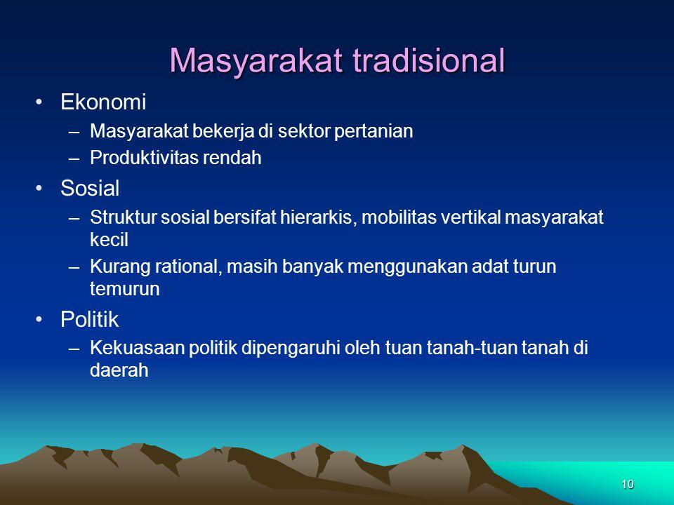 Masyarakat tradisional
