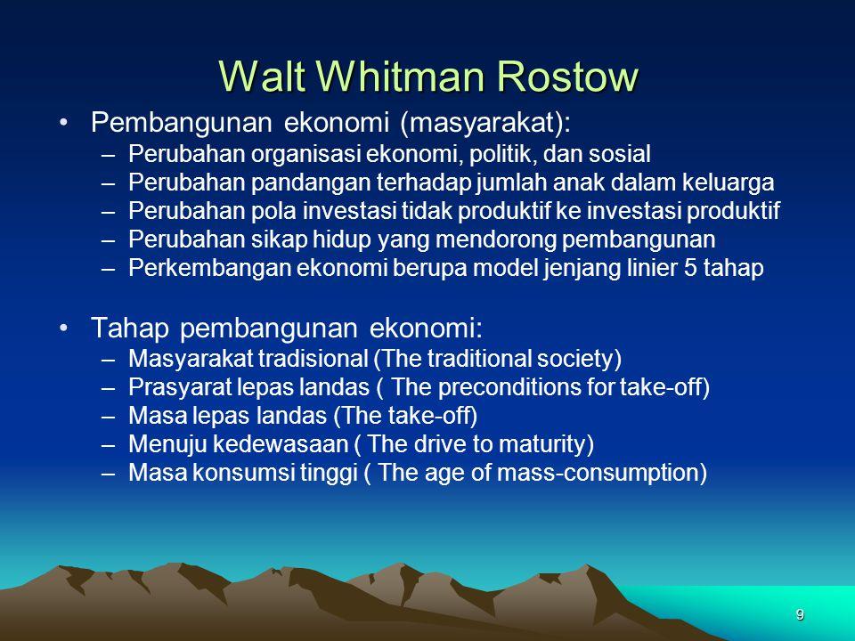 Walt Whitman Rostow Pembangunan ekonomi (masyarakat):