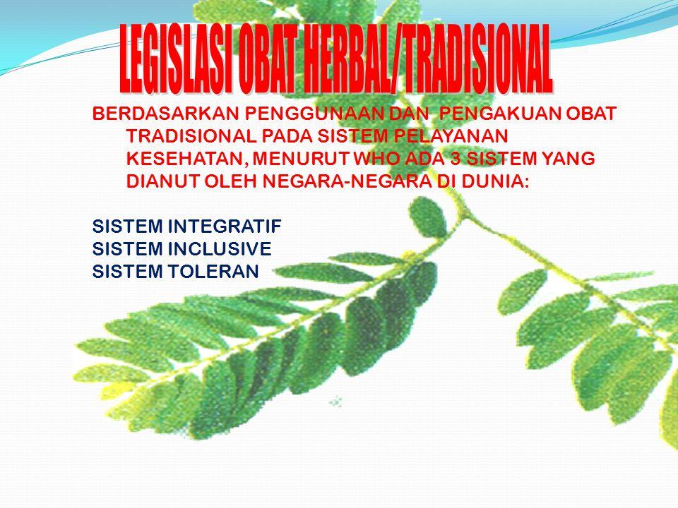 LEGISLASI OBAT HERBAL/TRADISIONAL
