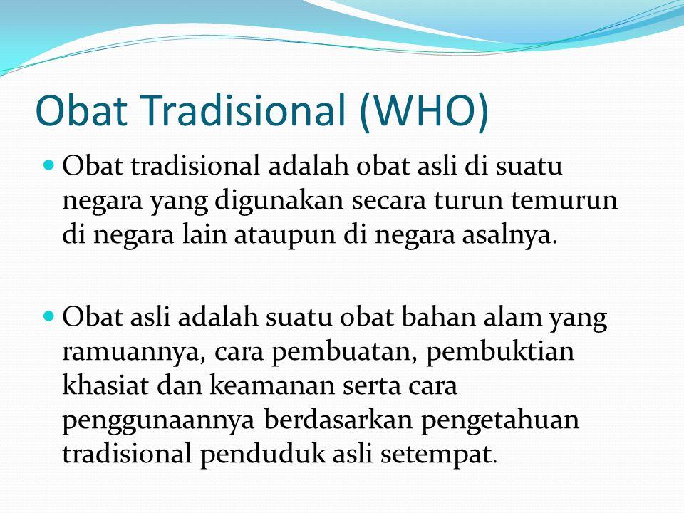 Obat Tradisional (WHO)