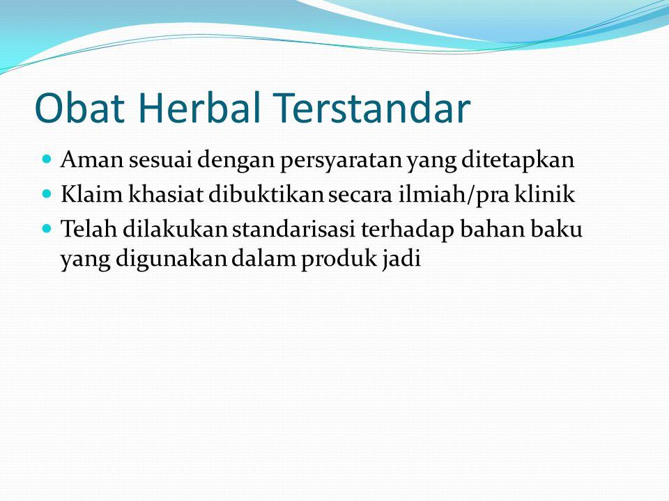 Obat Herbal Terstandar