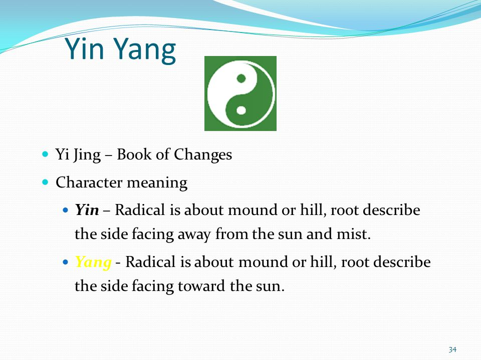 Yin Yang Yi Jing – Book of Changes Character meaning
