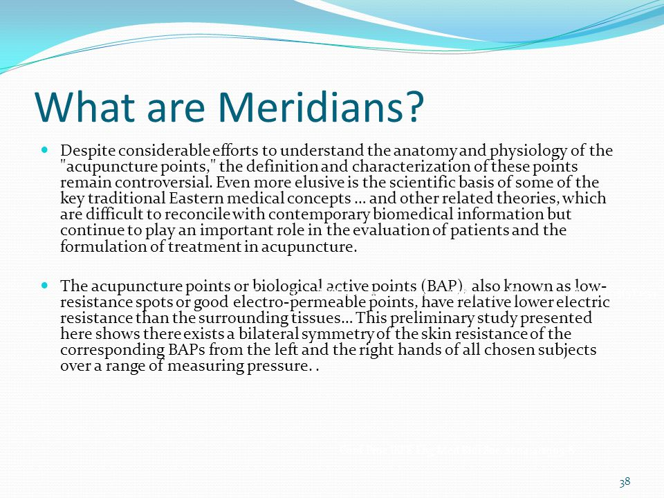 What are Meridians