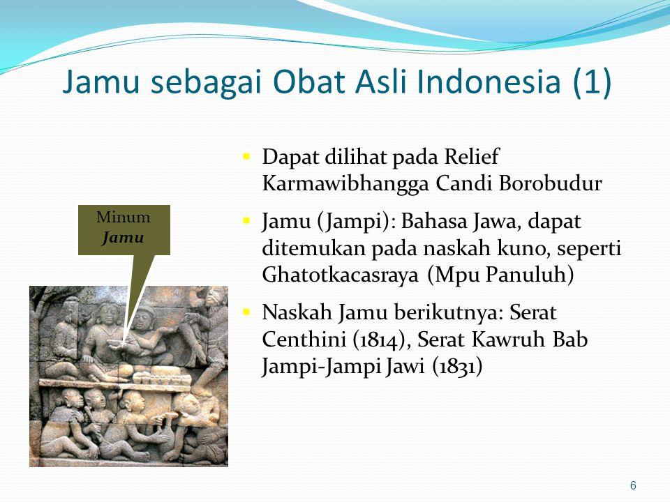 Jamu sebagai Obat Asli Indonesia (1)