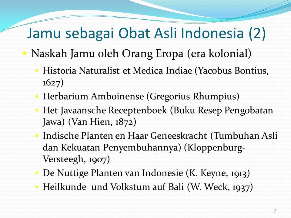 Jamu sebagai Obat Asli Indonesia (2)
