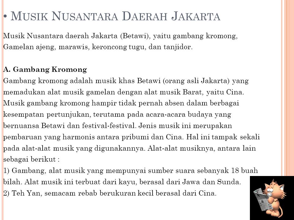 Musik Nusantara Daerah Jakarta