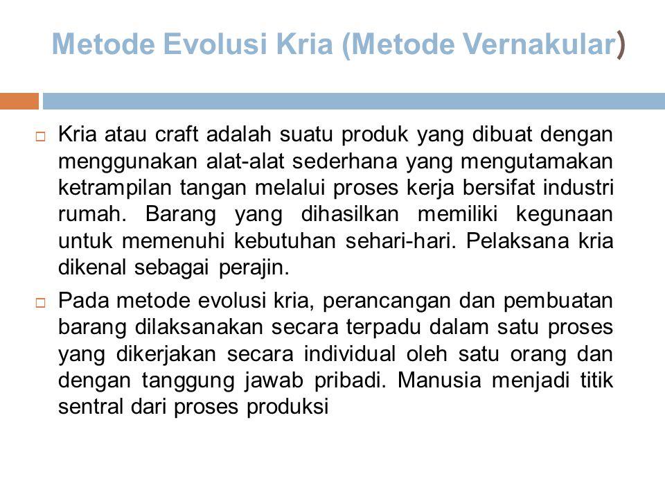 Metode Evolusi Kria (Metode Vernakular)