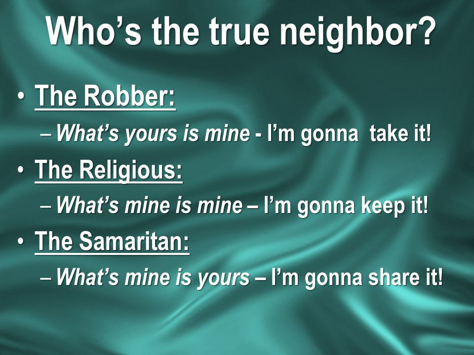 Who's the true neighbor