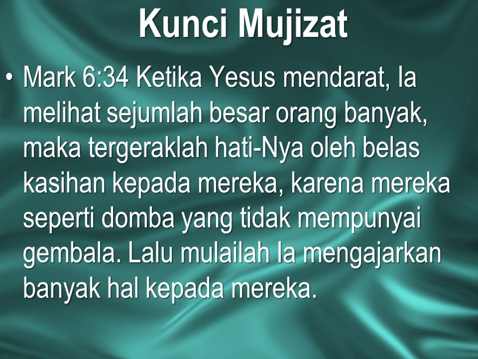 Kunci Mujizat