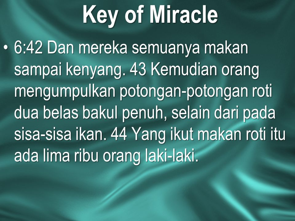 Key of Miracle