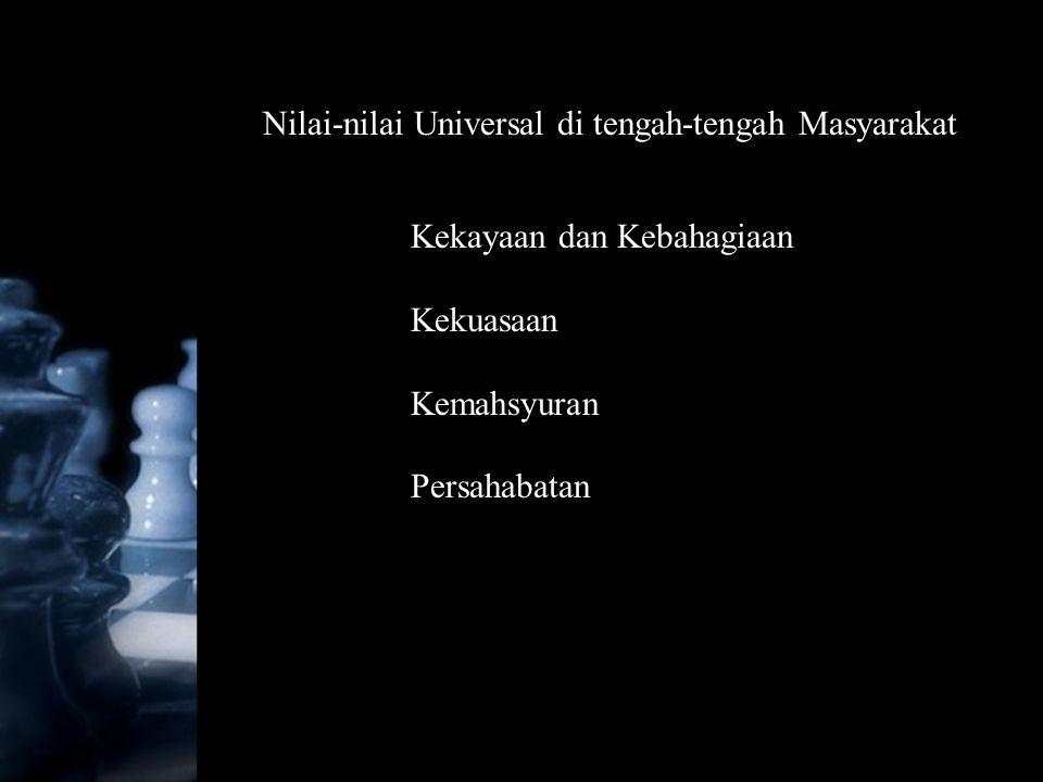 Nilai-nilai Universal di tengah-tengah Masyarakat