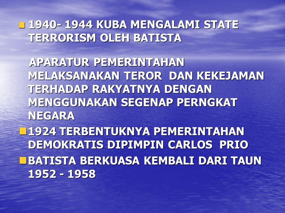 1940- 1944 KUBA MENGALAMI STATE TERRORISM OLEH BATISTA
