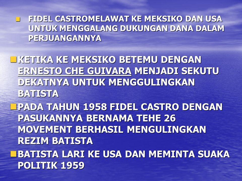 BATISTA LARI KE USA DAN MEMINTA SUAKA POLITIK 1959
