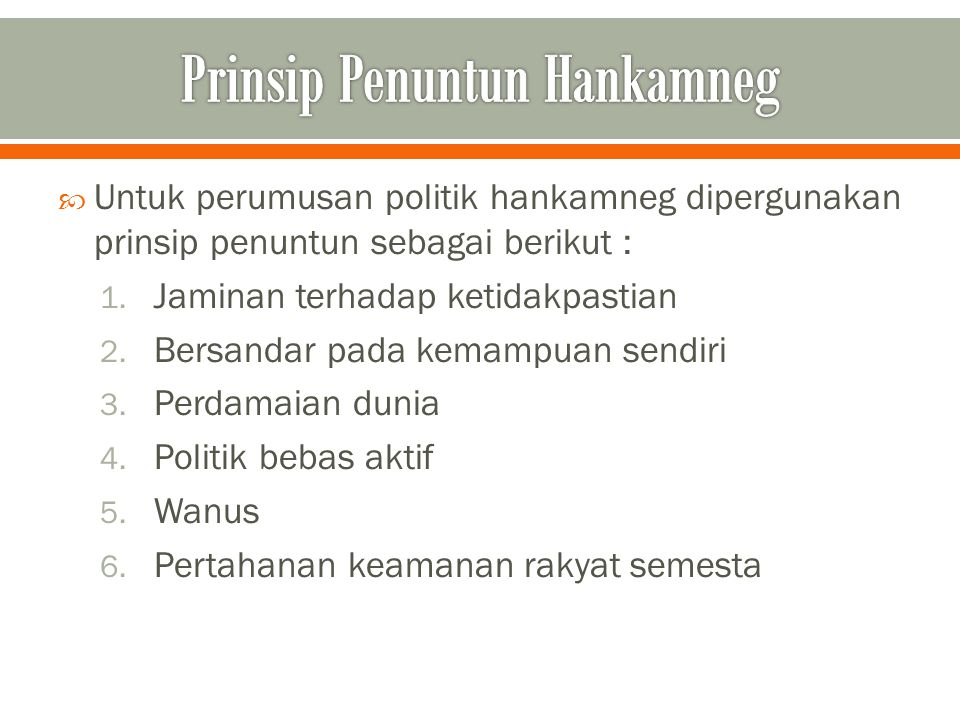 Prinsip Penuntun Hankamneg