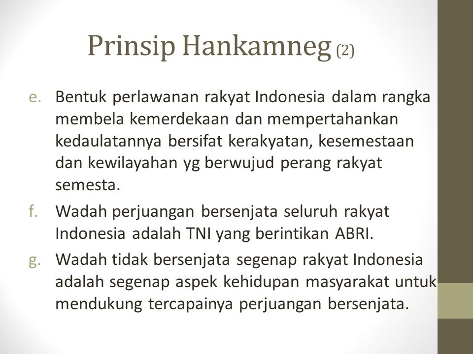 Prinsip Hankamneg (2)