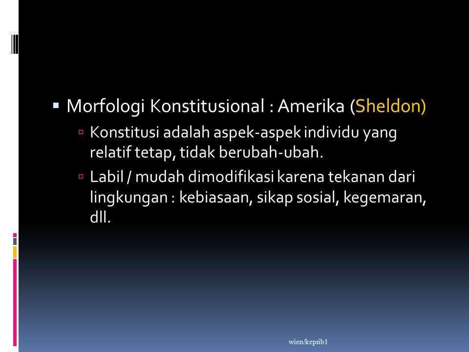 Morfologi Konstitusional : Amerika (Sheldon)