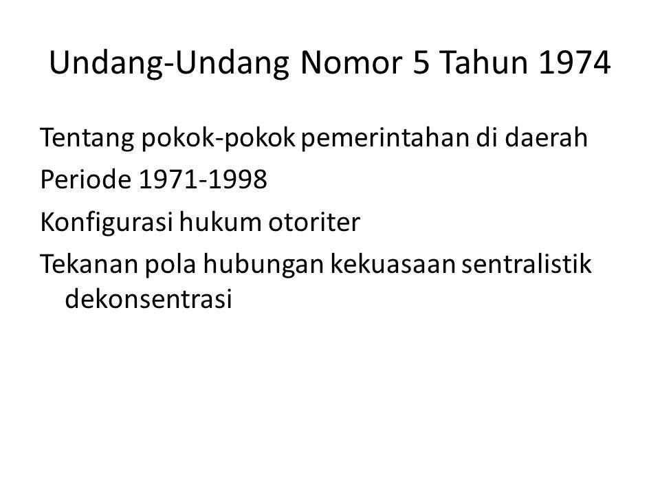 Undang-Undang Nomor 5 Tahun 1974