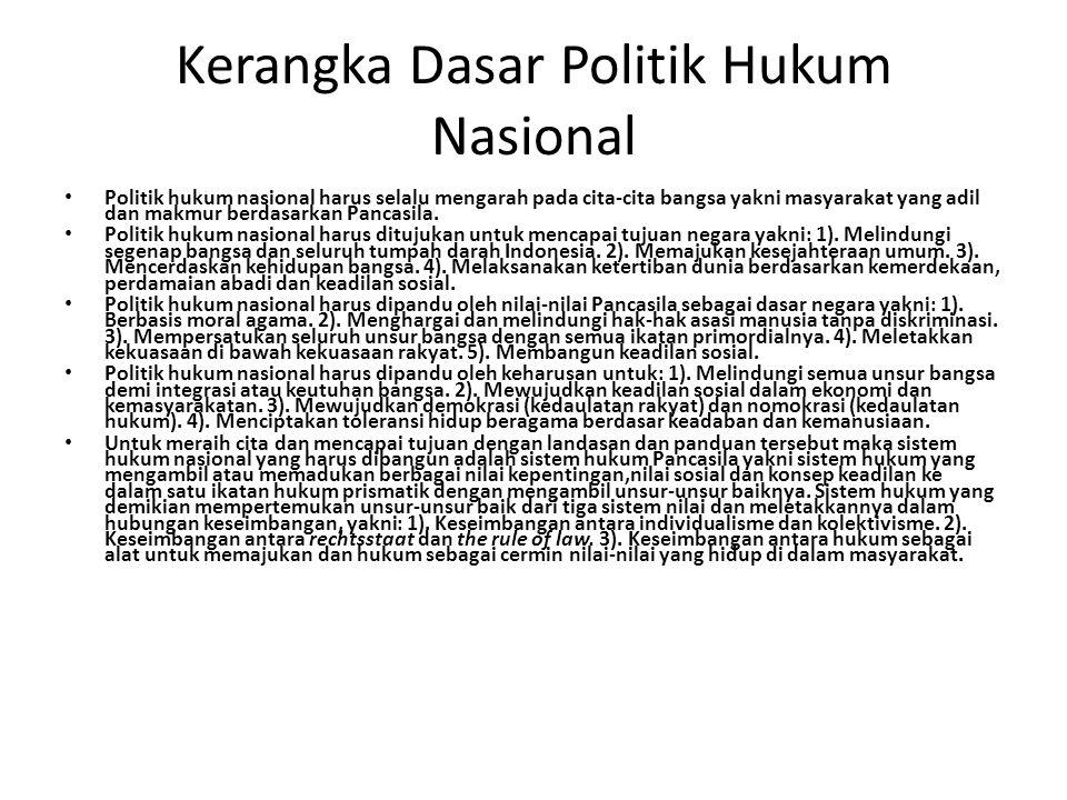 Kerangka Dasar Politik Hukum Nasional