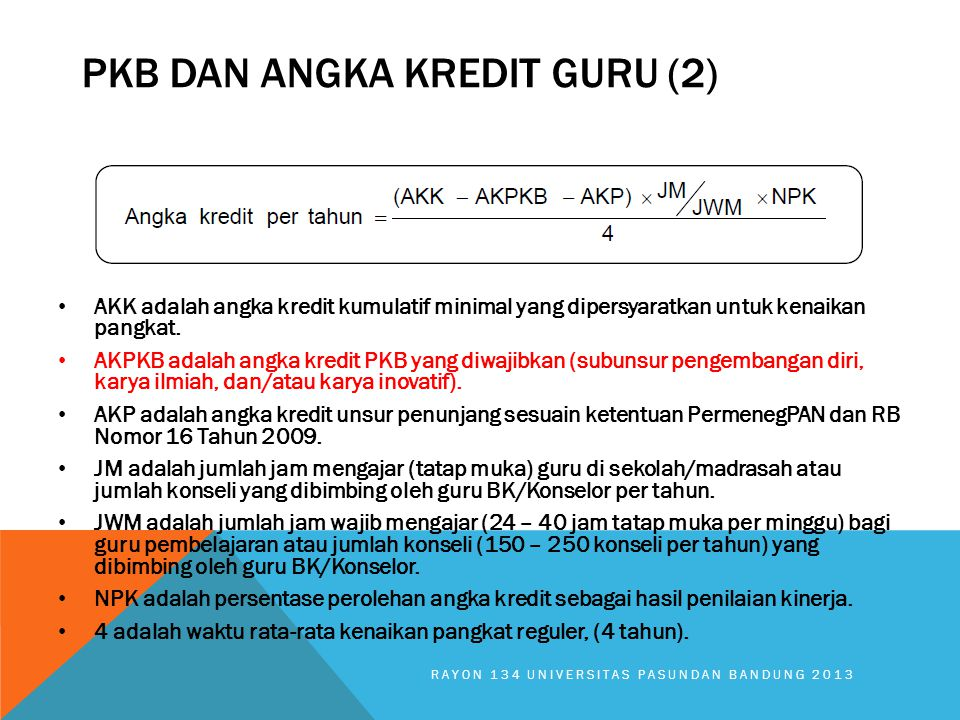 Pkb DAN angka kredit guru (2)