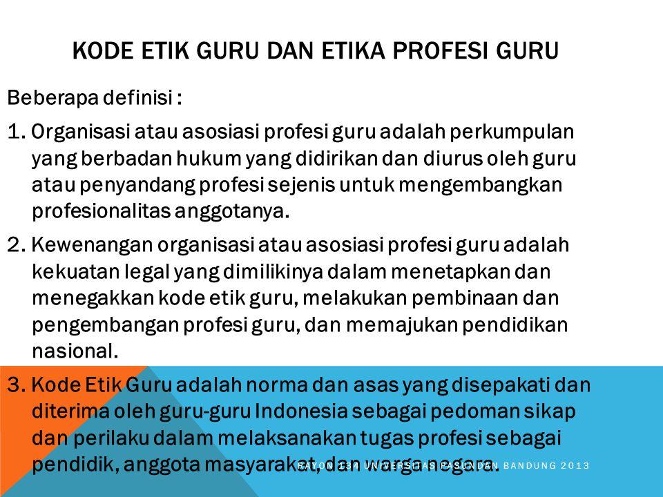 Kode Etik Guru dan etika profesi guru