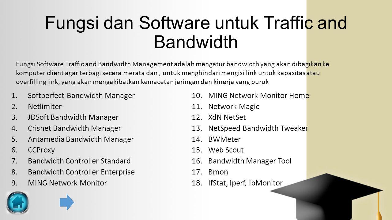 Fungsi dan Software untuk Traffic and Bandwidth