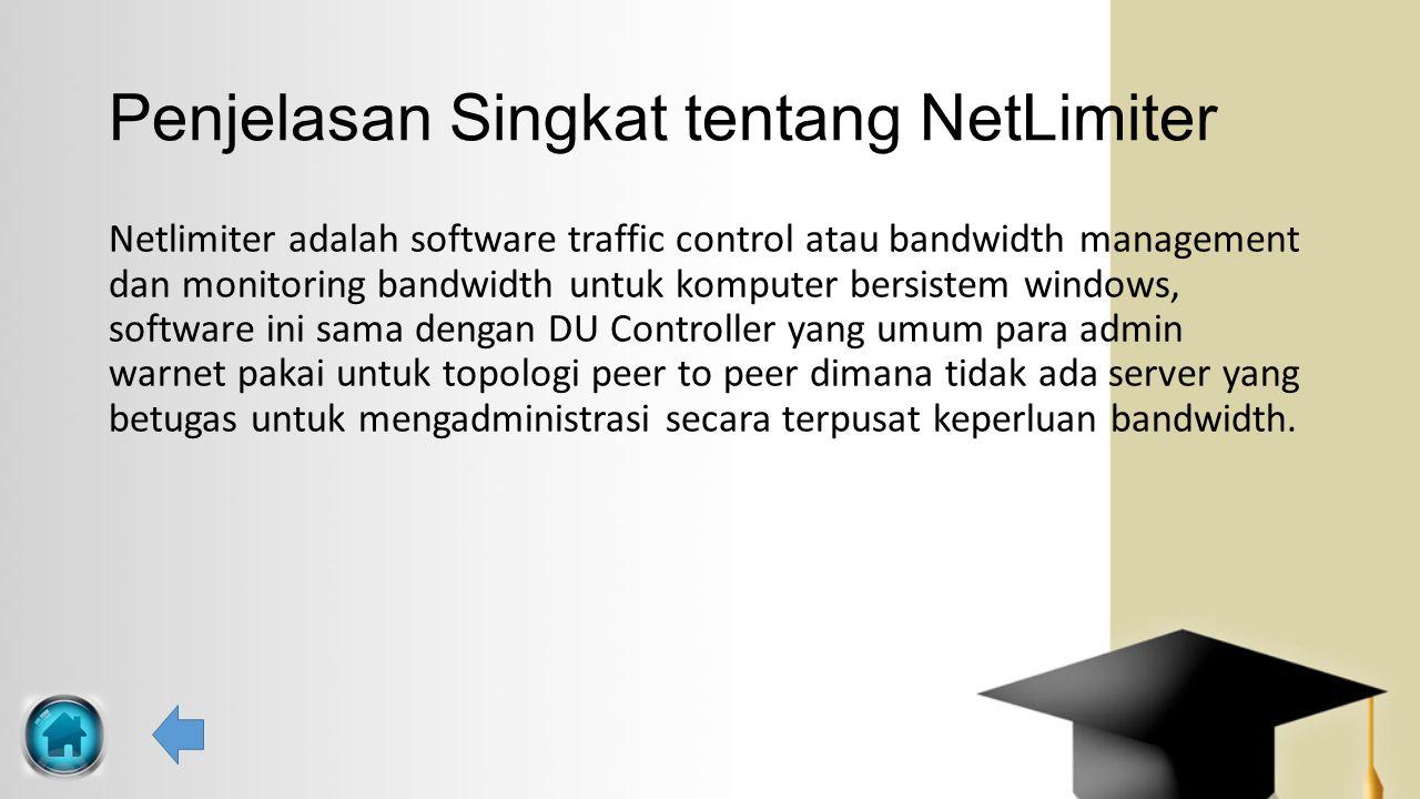 Penjelasan Singkat tentang NetLimiter