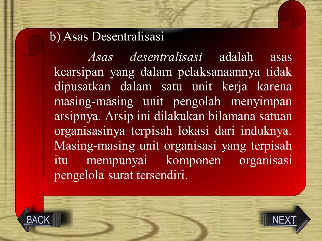 Asas Desentralisasi