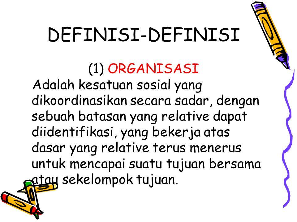 DEFINISI-DEFINISI (1) ORGANISASI